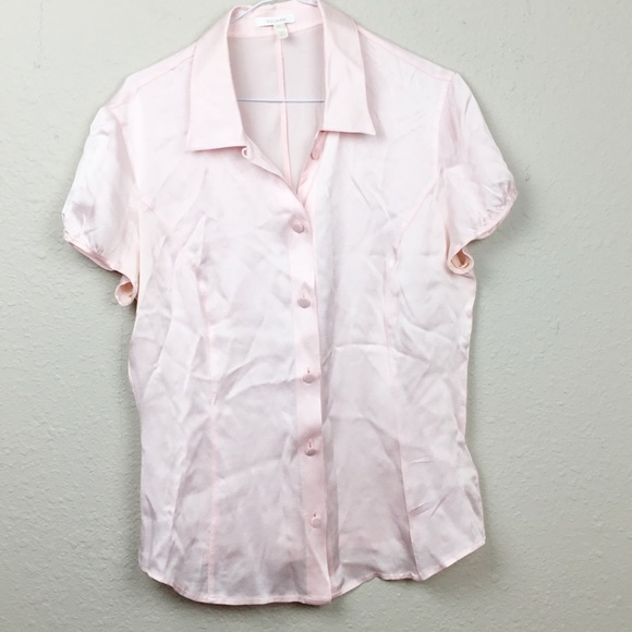 f4bbf39bcd7377 Escada Tops | Pink 100 Silk Button Down Blouse Size 4 | Poshmark